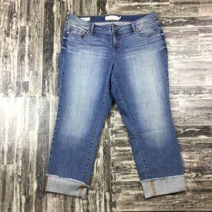 Torrid Plus Size 14 Cropped Capris Pants Jeans